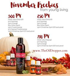 November 2015 promo Young Living. Want to earn over $250 in FREEBIES this month! There is still time!