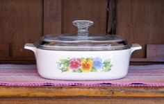2 (Two) Liter/Quart ~ Corning Ware ~ A-2-B ~ Summer Blush ~ Covered Casserole ~ Sauce Pan ~ With Pyrex Lid ~ Vintage by JingleBeanFarm on Etsy