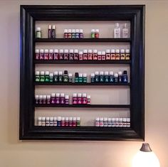 Large essential oil shelf, shown in black! Available in 10 colors!