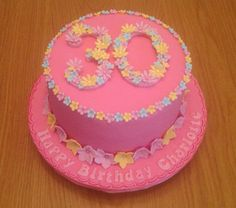 30th birthday cake decorated with flowers by Sonya Newton