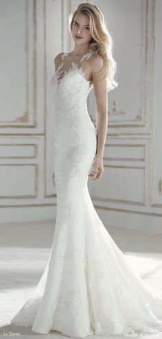 La Sposa 2018 low waist mermaid wedding dress #weddingdress