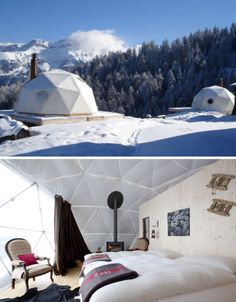 Whitepod Eco Resort, Swiss Alps- saw these years ago on tv, hope to stay in one some day