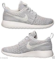 360592c4a25b Trainers Nike ROSHE ONE FLYKNIT CASUAL Womens M RUNNING MESH GREY WHITE  PLATINUM NEW