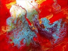 Pebeo Mixed Media || My process - YouTube