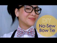 DIY No-Sew Bow Tie : {JEREMY} Bow Tie V.2 - YouTube