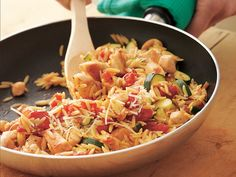 Chicken and Orzo Supper - 30 min meal that is full of flavor, veggies and chicken!