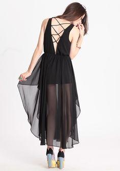 """exquisite taste chiffon dress"" - threadsence, $52.00"