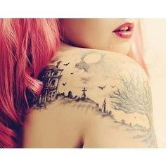 graveyard tattoo