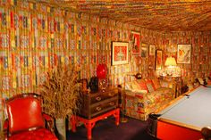 Elvis Presley's Pool Room At the Graceland Mansion in Memphis, Tennessee