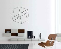 Optische Illusionen Mobius Quadrat Vinyl Wand von cutnpasteshop