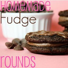 Homemade Fudge Rounds. Just like the brand name recipe you would be finding at your grocery store. This is a must-make chocolate recipe. homemad fudg, fudg round, chocolate recipes
