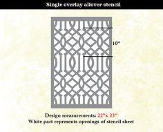 Wall Stencil Lattice Trellis Allower Pattern Wall by OMGstencils