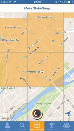 My GlobeSnap Map -> conquered areas in Munich's Glockenbachviertel