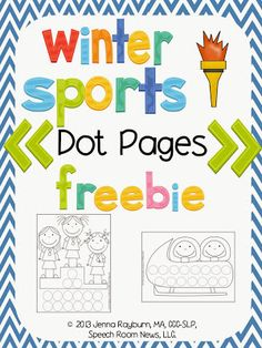 Speech Room News: Winter Olympics Countdown {and freebie}! Pinned by SOS Inc. Resources http://pinterest.com/sostherapy.
