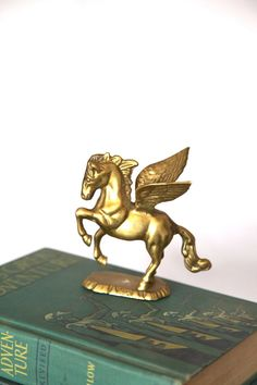Vintage Brass Pegasus Figurine by CaprockVintage on Etsy, $24.00