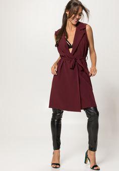 Μπορντό γιλέκο /φόρεμα