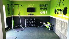 Trendy Home Gym Design Basement Inspiration Ideas Basement Gym, Garage Gym, Gym Workouts, At Home Workouts, Small Home Gyms, Best Home Workout Equipment, Diy Home Gym, Gym Interior, Interior Design