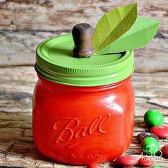 Adorable Apple Jar Tutorial. Such a cute gift idea!