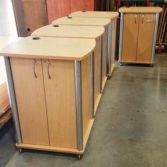David Lane Office Furniture - Mobile Cart with Satin Chrome Corners.