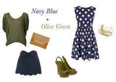 Verde Olivo, el perfecto color para combinar con Azul Marino.