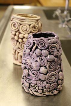 Dali's Moustache - coil built pottery