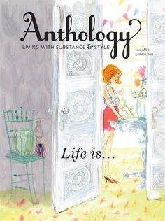 Anthology Magazine Issue No. 3, Life is a Party. Cover illustration by Julia Denos.