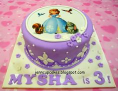 Commissioned By Glenda Request Sofia The First Image Cake Purple And  cakepins.com