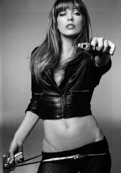 Action adventure star and zombie killer Milla Jovovich
