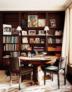 Diane von Furstenberg Paris Office/Library by François Catroux.