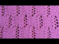 Ажурный узор Дорожки Вязание спицами Видеоуроки - YouTube