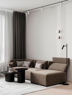 MOSCOW42 on Behance Living Room Sofa Design, Living Room Lounge, Living Room Seating, Home Living Room, Living Room Designs, Living Room Decor, Classic Living Room, Simple Living Room, Modern Interior Design
