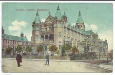 BIRMINGHAM - GENERAL HOSPITAL 1917 Postcard