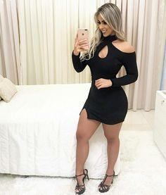 Little blac dress Tight Dresses, Sexy Dresses, Cute Dresses, Short Dresses, Sexy Outfits, Cool Outfits, Fashion Outfits, Lil Black Dress, Looks Black