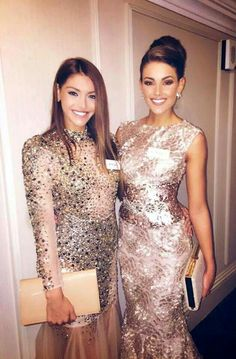 Miss Hungary and Miss South Africa :)