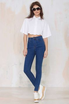 Alice McCall Ball Boy Crop Blouse - Cropped | Shirts + Blouses | Alice McCall | Clothes |