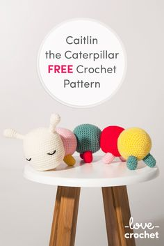 FREE Caitlin the Caterpillar Crochet Pattern! Download now at LoveCrochet.Com