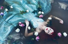 Inspired By local Myths And Legends of Czech Slavic History Karolina Ryvolova Created a set of surreal Portraits Of Czech Women. Karolina is a skilled photographer from beautiful Czech Republic with the passion for beauty, life and nature. Conceptual Photography, Underwater Photography, Creative Photography, Portrait Photography, Fantasy Photography, Underwater Art, Experimental Photography, Exposure Photography, Winter Photography