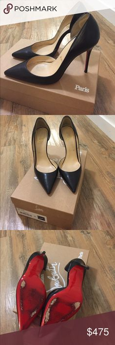 Christian Louboutin Iriza Worn a few times comes with box and dust bag size 37. Inside has heel inserts to be more comfortable you can take out if you like. Comes with receipt also Christian Louboutin Shoes Heels