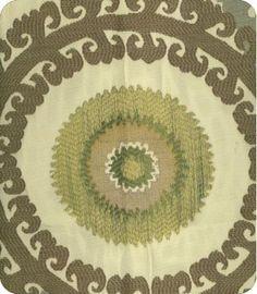 Taraz Blue Green Natural Woven Fabric  Pillows