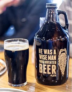 Raise your Plato Quote Growler 64 oz to the sky for a night in great company. Brewing Co, Home Brewing, Beer Types, Beer Growler, Gifts For Beer Lovers, All Beer, Good Cigars, Wine And Liquor, Beer Humor