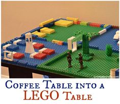 how to turn a coffee table into a Lego table! easier than it looks!!