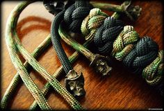 Mini Vinnie Garoon Cowboy Beads in black oxide finish on a paracord neck lanyard.