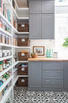 Butler's Pantry Reveal – A Thoughtful Place Butler's Pantry Reveal – A Thoughtful Place - Own Kitchen Pantry Kitchen Pantry Design, Diy Kitchen Storage, Ikea Kitchen, Kitchen Decor, Kitchen Cabinets, Kitchen Butlers Pantry, Kitchen Hacks, Bright Kitchens, Home Kitchens