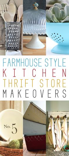 Farmhouse Style Kitchen Thrift Store Makeovers - The Cottage Market