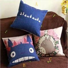 Children Cushion totoro Throw Pillow cover/Decorative throw pillow/Cushion cover/Pillowcase/Decorative pillow cover