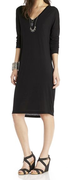 Dressy casual: Pair a relaxed fit dress with strappy wedges and tribal-inspired jewelry