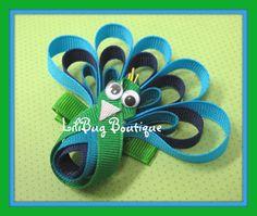 Polly Peacock capelli Clip di LiliBugBoutique su Etsy