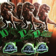 Jurassic world personalized centerpieces Order yours today