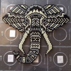 Elephant hama perler bead art by Lisa Haulrik (photo:Ann Linnebjerg )