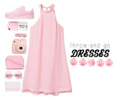 """""""Pink Dress 💠👗👛"""" by aninhad-von ❤ liked on Polyvore featuring MANGO, Fujifilm, MICHAEL Michael Kors, adidas Originals, Valfré, ZeroUV, Kate Spade and easypeasy"""